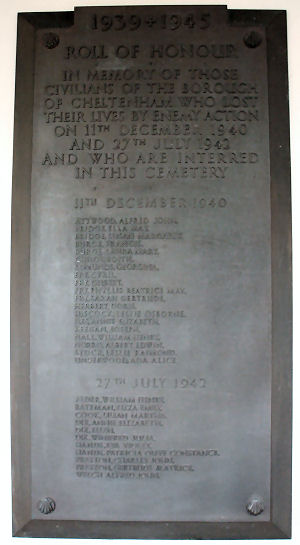 Civilian Roll of Honour Cheltenham