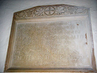 Dumbleton Church War Memorial