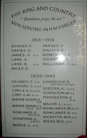 Notgrove Roll of Honour