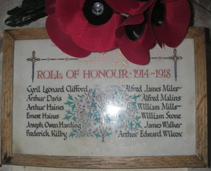Turkdean Roll of Honour